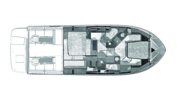 Cranchi T43 Eco Trawler Two Cabin Layout