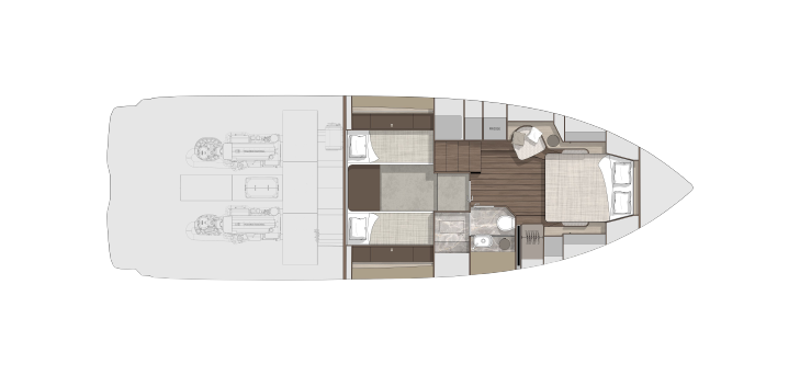 Cabin Layout - (Fold Out Bed)